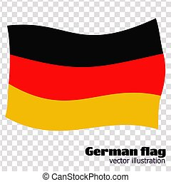 Bright button with flag of Germany. Banner illustration with flag. Happy Germany day background. Vector illustration.