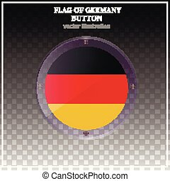 Bright button with flag of Germany. Banner illustration with flag. Happy Germany day sticker.