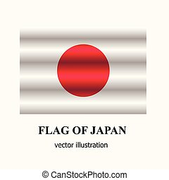 Bright button with flag of Japan. Vector.