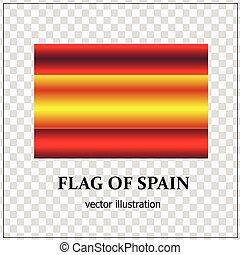 Bright button with flag of Spain.
