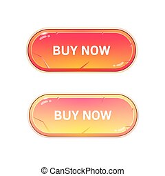 Bright buttons on a white background texture.