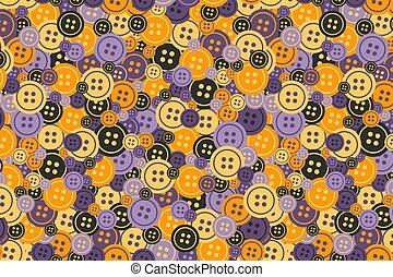Bright buttons thick seamless pattern