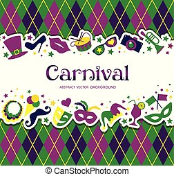 Bright carnival background and sign Welcome to Carnival