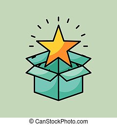 bright cartoon star image