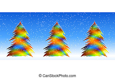 Bright Christmas Trees