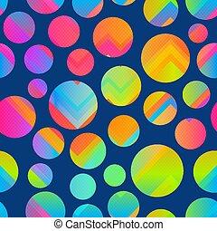 Bright circle seamless pattern.