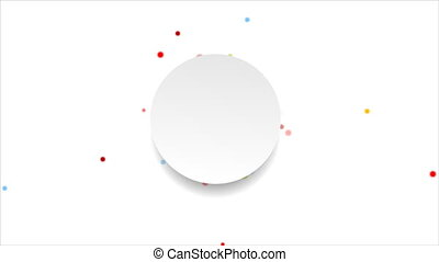 Bright circles and blank label video animation