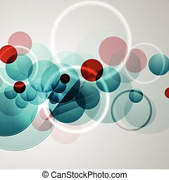 Bright circles geometric background