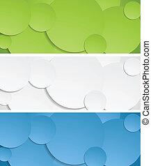 Bright circles vector banners