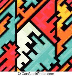 bright circuit seamless pattern