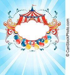 Bright circus background