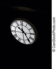 Clock Tower - Bright Clock Tower at night