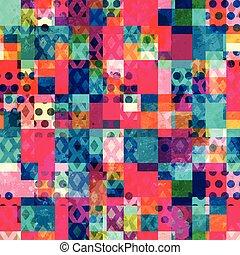 bright cloth seamless pattern