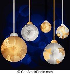 Bright color christmas balls. Vector illustration