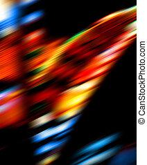 Bright color lights blur