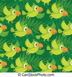 bright color parrot vector illustration