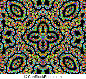 Bright color pattern - Black background with bright color...