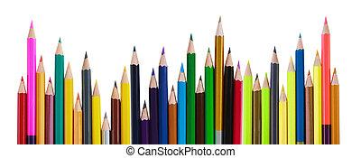 Bright color pencils, art concept