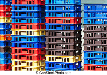 Bright Color Plastic Containers Piles -II