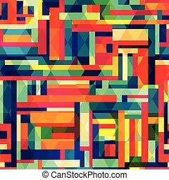 bright color square seamless pattern