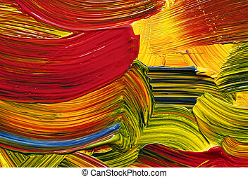 bright color strokes - Bright vivid strong paint brush ...