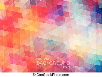Bright color triangle background - bright color background...