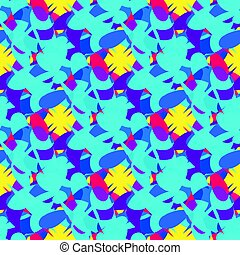 Bright colored abstract seamless pattern for your design