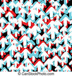 Bright colored arrows. Abstract background, vector, EPS10