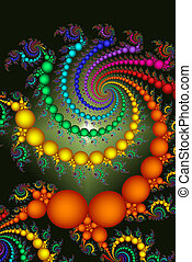Bright Colored Beads Abstract Design