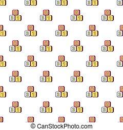 Bright colored bricks pattern seamless