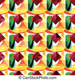 bright colored geometric seamless pattern