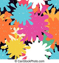 bright colored spots seamless pattern graffiti
