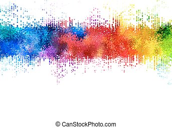 Rainbow stains. - Bright colored strip. Rainbow stains....