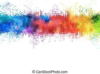 Rainbow stains.