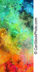 Bright Colorful Abstract