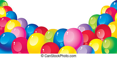 bright colorful balloons