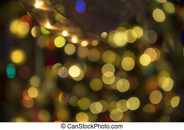 Bright colorful bokeh light effect abstract