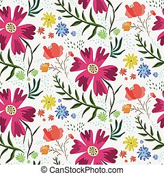 bright colorful floral summer pattern