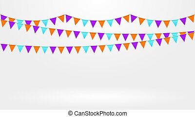 Bright colorful garlands