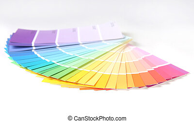 Bright Colorful Paint Swatch Samples for Remodeling a Home...