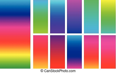 Bright colorful rainbow backgrounds. - Set of backgrounds...