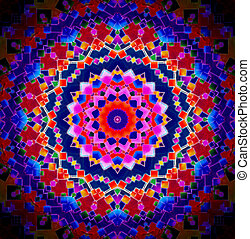 Bright Colour Kaleidoscopic Background - A Bright...
