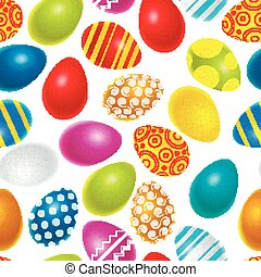 Bright colourful easter eggs seamless pattern