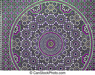 Bright colourful pink mauve mosaic abstract pattern