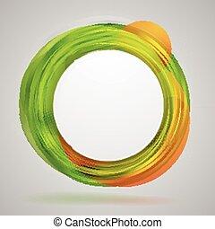 Bright concept circles vector abstract design
