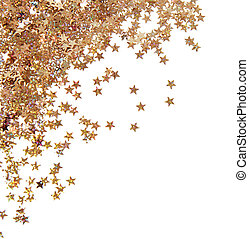 Bright confetti in star shape isolated on white
