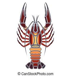 Bright crawfish, zodiac Cancer sign - Bright colorful ...