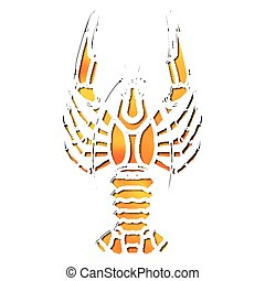 Bright crawfish, zodiac Cancer sign