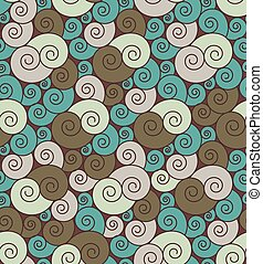 Bright curly seamless pattern