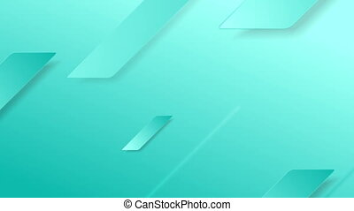 Bright cyan abstract geometric minimalism video animation -...